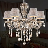 Wholesale Crystal Chandelier Light E12 E14 Chandeliers Lights Cognac Crystal Modern Chandeliers for Living Room Loft