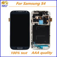 Wholesale Original A Lcd Display touch screen Digitizer For Samsung Galaxy S4 i9500 i9505 i337 Full Assembly