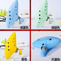 Wholesale 12 Hole Ocarina Instrument Ceramic Alto C Legend of Zelda Ceramic Ocarina Flauta Ocarina Flute Cheap Ocarina Stancealto