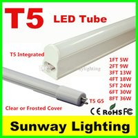 Wholesale High quality T5 integrated led tube light ft ft ft ft ft ft ft G5 Led fluorescent Tubes lamps warm nature cool white