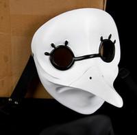 beak costume - resin funny mask white beak mask animal mask white masquerade masks full face masquerade party carnival accessories head decor