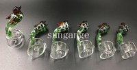 beautiful nail - Newest Bird Handle Beautiful Glass Carb Cap for mm Thick Domeless Quartz Nail Carb Caps Quartz Banger Dab Nail Carb Caps Oil Rigs