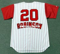 Wholesale Throwback FRANK ROBINSON Cincinnati Reds s Retro jerseys Throwback Home Men s embroidery baseball jersey