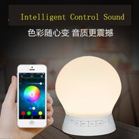 best light alarm clock - 2016 best gifts Quality led light alarm clock speaker bluetooth round Colorful Hottest mini flashing led
