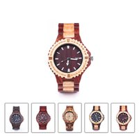 antique ribbon - Wood Watch Brand Men Wooden Watch New Year Gift Bangle Quartz Watch with Calendar Display role men relogio masculino watches