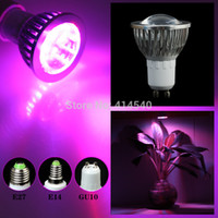 Wholesale 5w w LED GU10 E27 E14 Hydroponic Plant flowers vegatables Greens Spotlight LED Grow Lights plant growing lamp