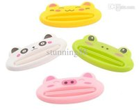Wholesale New Bathroom Dispenser Toothpaste pc Lovely Animal Tube Squeezer Easy Squeeze Paste Dispenser Roll Holder cm AY870001