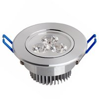 acryl sink - recessed led downlight W W led ceiling lamp LED embeded downlights aluminum heat sink Cree chip AC85 V CE ROHS FCC UL