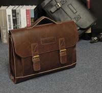 Il disegno originale del retro vibrazione uomo classico uomo factory outlet valigetta portatile borsa esplosione folle business bag cavallo mano