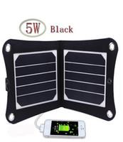 al por mayor usb marco digital-5W 5V portable del estilo del marco digital solar del USB del cargador del panel exterior Cargador solar para el iPhone Samsung Android 5V dispositivo