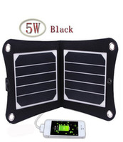 Wholesale 5W V Portable Solar Panel Charger Outdoor USB Digital Frame Style Solar Charger for iPhone Samsung Android V Device