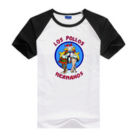 amc silver - Brand Quality Breaking Bad LOS POLLOS HERMANOS t shirt Tees Distressed Walter White Heisenberg AMC TV Show T shirt Tops For Men