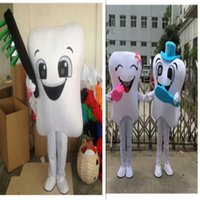 adult toothbrush costume - Fancy High Quality Tooth Mascot Costume Adult Size With Toothbrush For Festival advertising