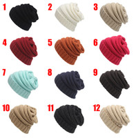 animal print warm - Winter Hat Knitted Woolen CC Trendy Hat No logo Fedora Luxury Cable Slouchy Hats Fashion Beanies Thick Warm Hat Outdoors New Mens Women