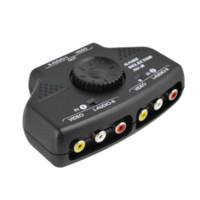 av cable switcher - AV Audio Video Switcher Selector Port Input Output Audio Video AV RCA Switcher For XBOX PS2 DVD Camera Black