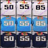 antonio gates - NIK Elite Football Stitched Chargers TE O Seau Antonio Gates Light Blue White Dark Blue Jerseys Mix Order