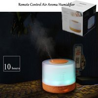 Wholesale New ml RC Ultrasonic Air Aroma Humidifier With Colors changing LED Lights Electric Aromatherapy Essential Oil Aroma Diffuser