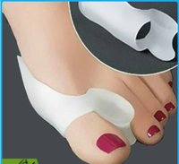 Wholesale Free DHL Toe Hallux Valgus Corrector Silicone Gel Spreader Feet Care Toe separator Bunion Guard Toe Stretcher Straightener
