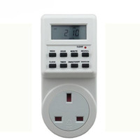 Wholesale T01 UK Socket Plug in Programmable Timer Switch for LED Aquarium Light Fish Reef Tank with Clock Summer Time Random Function