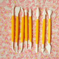 Wholesale Fondant Modelling Carving Cake Decorating Flower Pastry Craft Tool Polymer Clay Tools