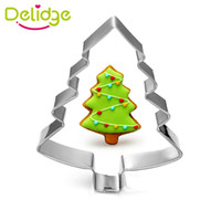 Wholesale 1 pc Christmas Tree Snowflake Santa Claus Shape Cookie Mold Stainless Steel Christmas Series Cookie Cutter Mousse Baking Ring