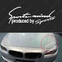 auto racing decals - Wholeasale Car Sport Stickers Reflective Lamp Eyebrow Captivating Sports Styling Auto Racing Decoration Decals White guarantee qu