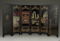 Wholesale From salewig to world Chinese CHINESE OLD LACQUER HANDWORK PAINTING BEIJING SCENERY SCREEN DECORATION