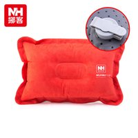 Wholesale NH High Quality Outdoor Inflatable Pillows Travel Pillow Faux suede Comfortable Sleeping Pillows Inflation any time Easy Carry