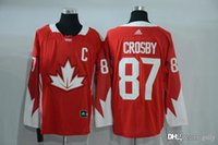 Cheap 2016 Mens Team Canada Crosby 87 With C Patch Red Olympics World Cup Hockey Ice NHL Jerseys Free Drop Shipping gally