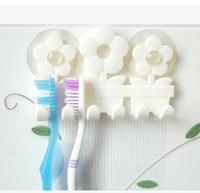 bathroom appliance storage - Sun flower toothbrush holder five storage rack sucker trimming the bathroom appliances