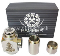 battery extension tube - Hammer Mods hammer of god box mod clone Full Mechanical Mod with Extension Tubes for Battery creative mod NEW