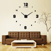 Wholesale Modern Fashion DIY Large Wall Acrylic Clock D Surface Sticker Quartz Different Size Arabic Numerals Clock Home Wall Decor