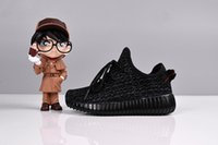 Wholesale Kids Shoes Kanye Boost Y kid Running Shoes Z Children Athletic Running Shoes Children s West Boosts child Sports Shoes Y pirate black