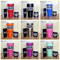 Wholesale Free DHL Hot Sale yeti Rambler Tumbler oz YETI Cups Cars Beer Mug Large Capacity Mug ml
