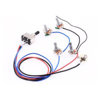 Wholesale ROCKET Wiring Harness Prewired Volumes Tones Ways Toggle Switch Knob K Pots for LP Electric Guitar Black Tip
