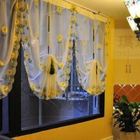 Wholesale New window curtain blinds embroidered voile sheer decorative Curtains for kitchen living room the bedroom window Screening