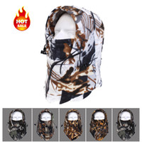 balaclava camo - Thermal Fleece Balaclava camouflage Ski Bike Wind Stopper Face Mask camo riding cycling motor hats