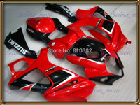 Wholesale CUSTOM motorcycle fairing kit for SUZUKI GSXR GSX R GSXR K7 Hot red glossy panels bodykit SK64