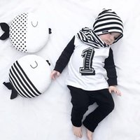 Wholesale Small Plush Fish - Price For 1pcs Only 40cm Black White INS Stripe Fish Pillow Animals Toy Wave Point Cartoon Fish Pillow Baby Boy Girl's Plush Toy