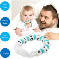 Wholesale BPA Free Food Grade Cute Silicone Pacifier Clip Holder Chain Soft Beads for Teething Teether Chew Nursing Soothing Jewelry Toy Toddler Gift