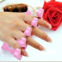 Wholesale Cute Nail Art Tool Pink Heart Shaped Soft Finger Toe Separator Supertop K00113