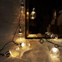 Wholesale Novelty LED M Clear Globe Festoon Party String Lights Connectable Christmas Lights Holiday Garland Lights EU AU US UK PLUG