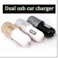 alloy power adapter - 2016 hot Universal Dual USB Port mah Car Charger A A Auto Power Charger Adapter aluminium alloy ABS car charger