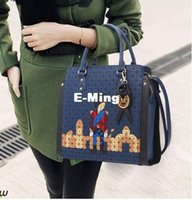 backpack office - Designer High Quality Leather Office Tote Shoulder Bags For Women Fashion Ladies Shopping Handbags Woman Crossbody Bag Navy Blue Sale