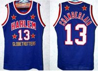 Wholesale Retro throwback WILT CHAMBERLAIN JERSEY NEW BLACK BLUE ANY SIZE S XL embroidered jersey