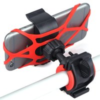 Wholesale Bike Bicycle Motorcycle Handlebar Mount Holder Phone Holder With Silicone Support Band For Iphone Samsung XIAOMI GPS Universal
