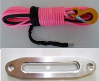 Wholesale mm synthetic winch rope with lbs aluminum fairlead window