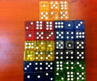 Wholesale 16 MM Transfer Acryl Gambling Game dice Color random