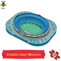 Wholesale d stadium puzzle football stadium model Estadio Azul Mexico
