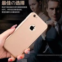 Wholesale 360 Degree Full Body Covered Ultra thin Hard PC Case back Cover with Tempered Glass Screen Protector For Iphone S SE S plus